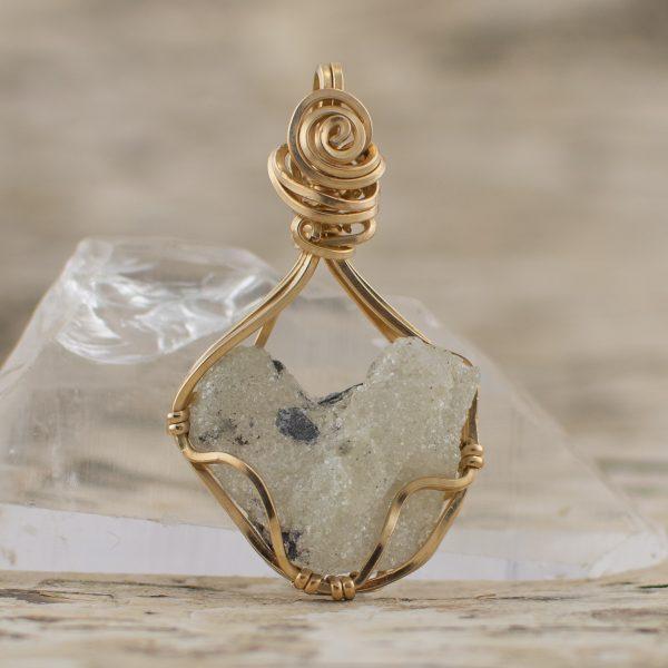 Jeffrey Quartz Pendant Heart Shaped Stone Pendant