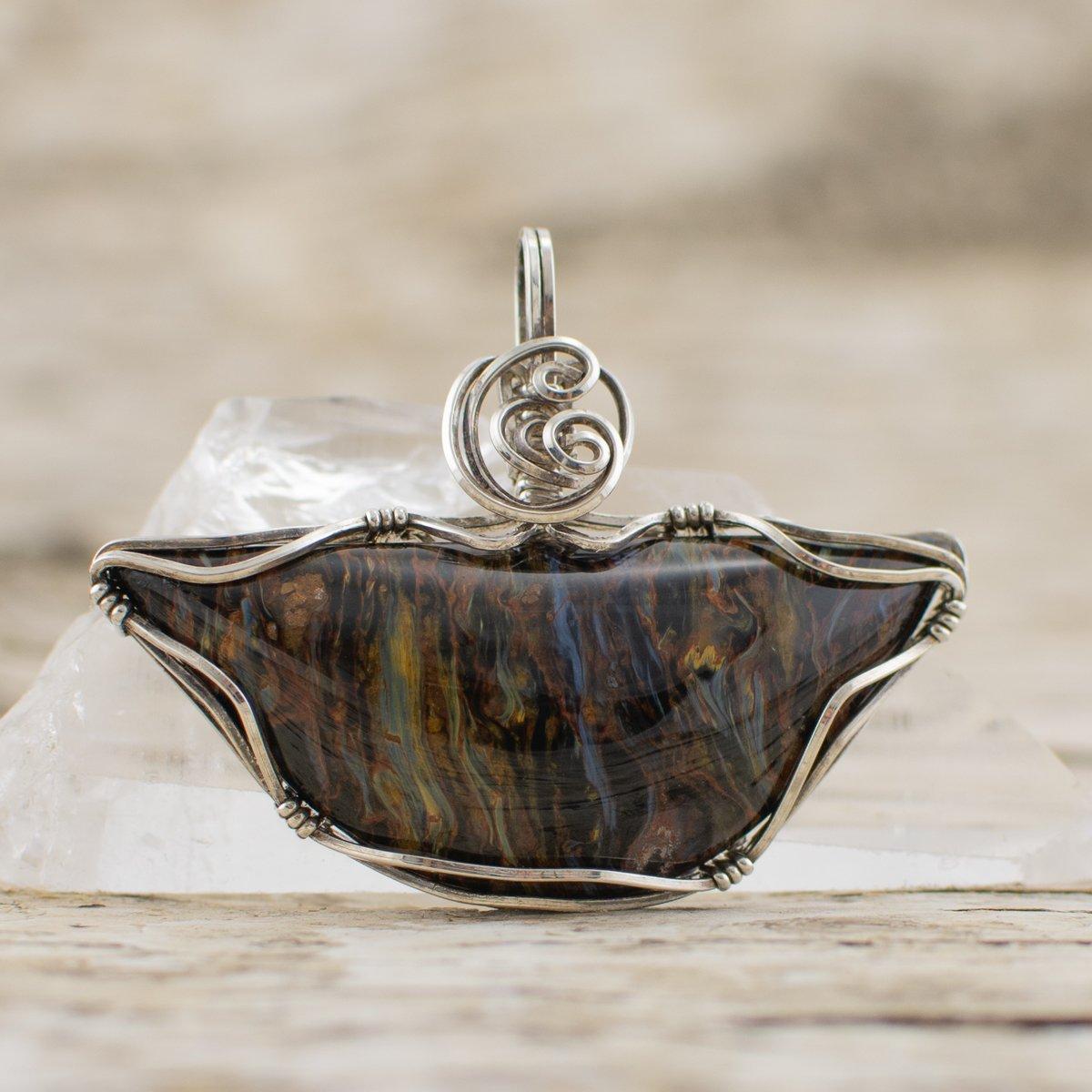 Pietersite Pendant Jewelry