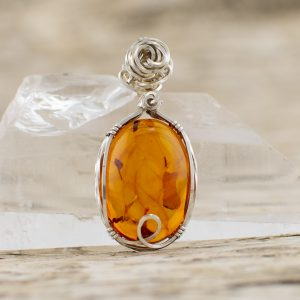 Real Amber Pendant front image