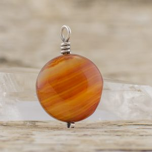 Carnelian Coin Pendant To Get Creative