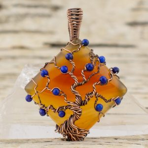 gemstone tree of life pendant