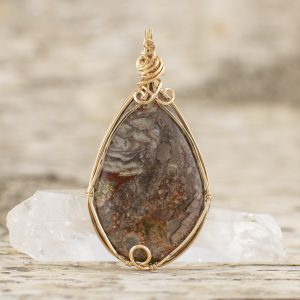 Rainforest Jasper Teardrop Pendant