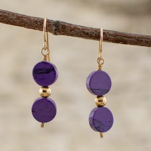 Purple Stone Sugilite Earrings