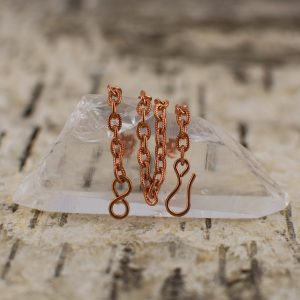 Copper Cable Chain with hook and eye fastner