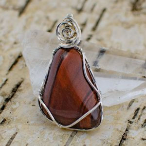 red-tigers-eye-pendant