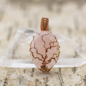 Pendant Tree of Life Rose Quartz main image