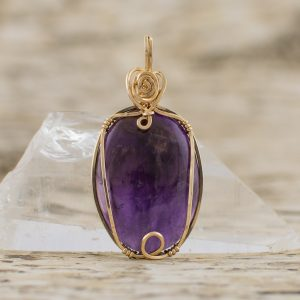 amethyst precious gemstone pendants