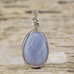 Calm Waters Blue Lace Agate Pendant