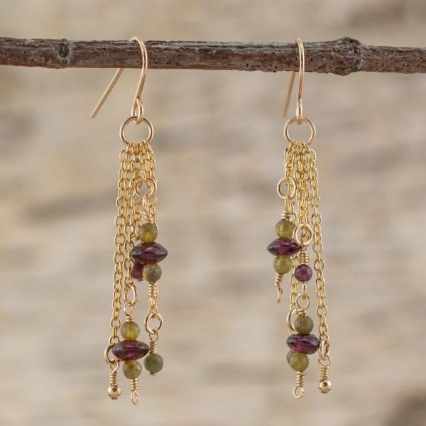 Joyful Abundance Garnet Earrings