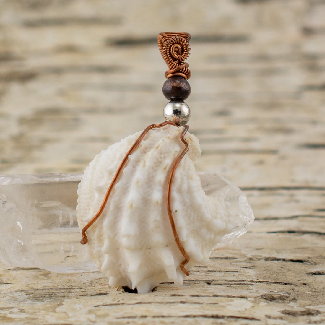 Go with the Flow White Shell Pendant