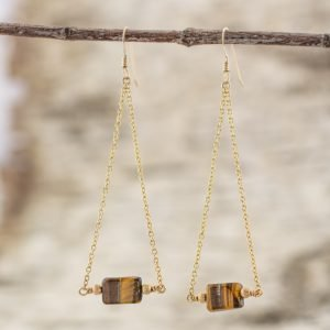 Tiger Eye Earrings for life balance