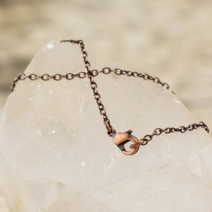 Copper Chain Oxidized 1.7mm with Lobster Clasp