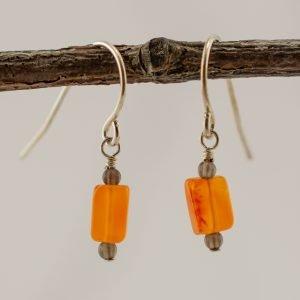 carnelian small earrings that dangle