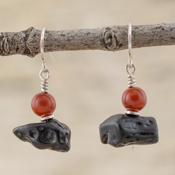 black and red jewelry