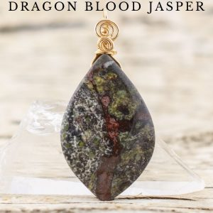 dragon's blood stone necklace