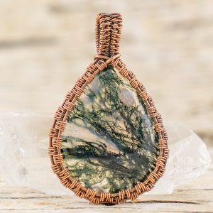 green-moss-agate-pendant