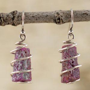 real-ruby-earrings